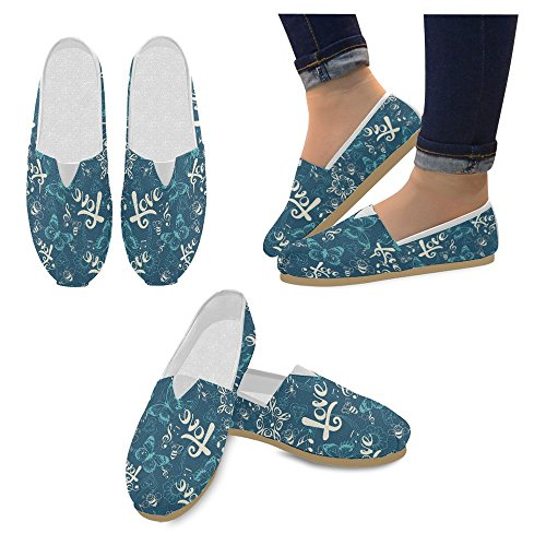InterestPrint Womens Loafers Classic Casual Canvas Slip On Fashion Shoes Sneakers Flats Multi 12 P20r6G2Y