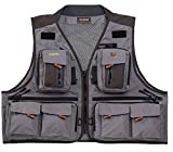 Cheap Caddis Waders Men's Northern Guide Breathable Fishing Vest, Grey/Brown, 3X-Large