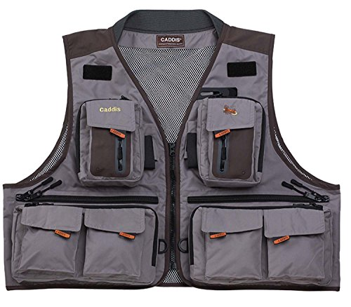 Caddis waders men 39 s northern guide breathable fishing vest for Fishing vest amazon