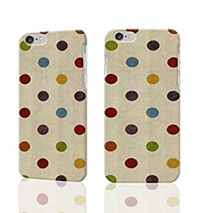 cute rainbow polka dot Photo Plastic Hard Customized Personalized 3D Case For iphone 6 4.7