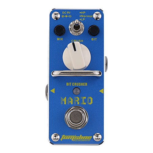 AROMA AMO-3 Mario Bit Crusher Electric Guitar Effect Pedal Mini Single Effect