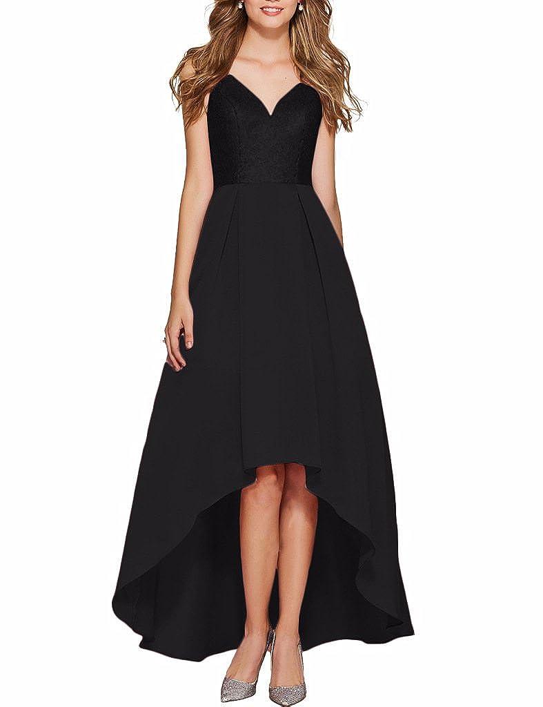 254562b85e Verabeauty Sequin Prom Dress High-Low Party Dress Sleeveless Evening Dress  Open Back Home Partu Dress B076 at Amazon Women s Clothing store