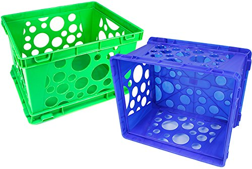 Storex Large Storage and Transport File Crate, 17.25 x 14.25 x 10.5 Inches, Green, Case of 3 (STX61556U03C) by Storex (Image #5)