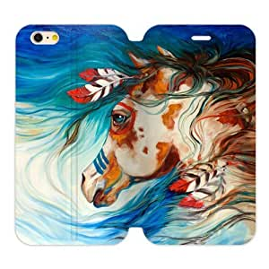 Futefew Mobile Phone Shell Native American Indians Horse 2 Custom Flip Cover Case for Iphone6 5.5