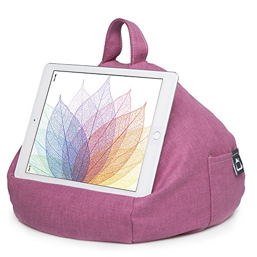 iPad Pillow & Tablet Stand - Securely Holds Any Size Tablet, eReader or Book Upto 12.9 inches, Hands Free Comfort at Any Angle on Any Surface - Pink, by iBeani