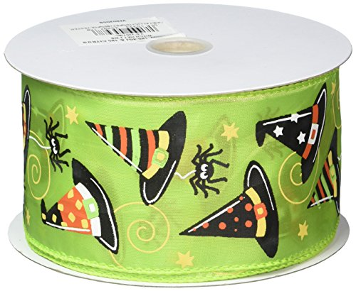 Reliant Ribbon Witch Hat 2 Wired Edge Ribbon, 2-1/2 Inch X 25 Yards, Citrus]()