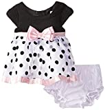 Sweet Heart Rose Baby Girls' Organza Flock Polka Dot Dress