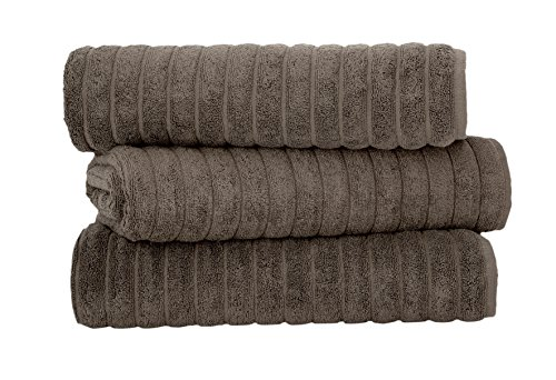 Classic Turkish Towels 3 Piece Luxury Bath Sheet Set – 40 x 65 Inch Soft and Thick Oversized Bathroom Towels Made with 100% Turkish Cotton (Chocolate)