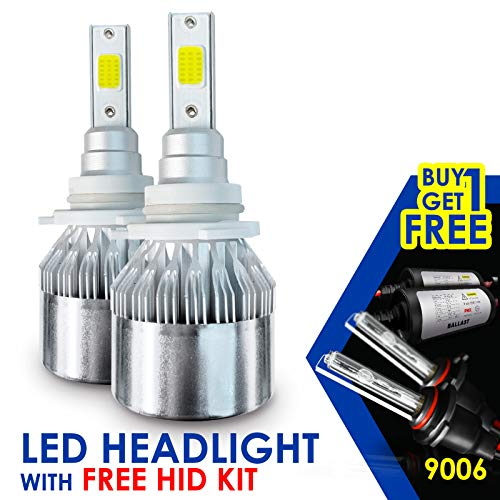 dlight Bulbs All-in-One with HID FREE EXTRA BACKUP Kit - 9005 (HB3) -7,000Lm 6000K Cool White CREE ()