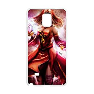 Samsung Galaxy Note 4 Cell Phone Case White Defense Of The Ancients Dota 2 LINA 007 OIW0480710