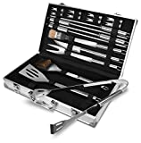 Utopia Home BBQ Grilling Tool Set - BBQ Accessories - Premium Stainless Steel Construction - BBQ Gift - (18-Piece Set with Case)