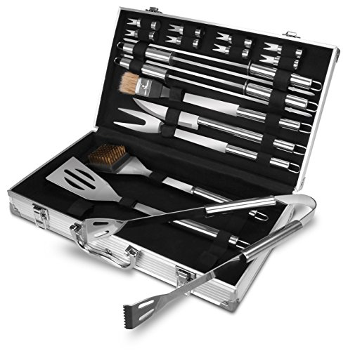 Utopia Home BBQ Grilling Tool Set - BBQ Accessories - Premium Stainless Steel Construction - BBQ Gift - by (18-Piece Set with Case) (Barbecue Grilling)