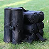 ABCCANOPY Outdoor Canopy Party Gazebo/Pop Up Tent Pole Weight Sand Anchor Bags - 4 pack (black)