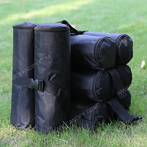 ABCCANOPY Outdoor Canopy Party Gazebo/Pop Up Tent Pole Weight Sand Anchor Bags - 4 pack (black) by ABCCANOPY