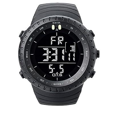 PALADA Men's T7005G Sports Digital Wrist Watch Quartz Movement 164FT Waterproof with LED Backlight