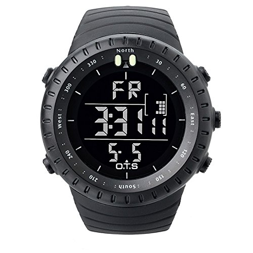 PALADA-Mens-Sports-Digital-Wrist-Watches-Electronic-Quartz-Movement-Water-Resistant-Military-Business-Casual-with-LED-Backlight-Black