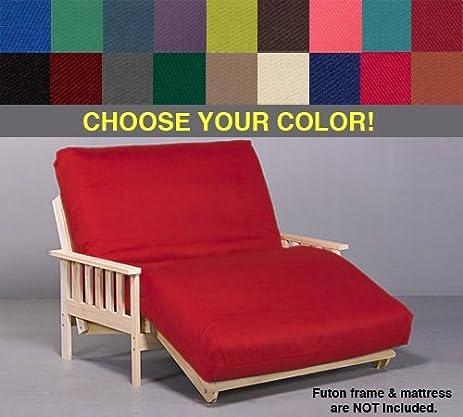 black premium futon cover   twin size amazon    black premium futon cover   twin size  home  u0026 kitchen  rh   amazon
