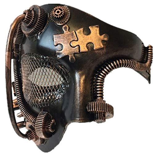 (Storm Buy] Steampunk Style Phantom Metallic Half Face Men Masquerade Ball Mask Prom Party)
