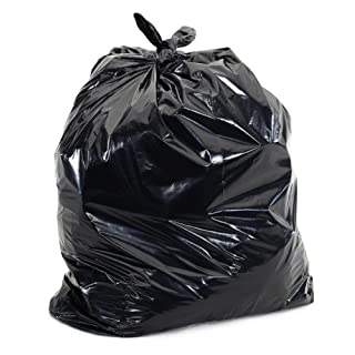"""Plasticplace 25-30 Gallons Trash Bags, 3 Ply, Black, 30"""" x 36"""", 1.7 Mil 100/case"""