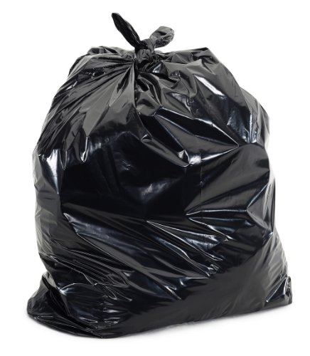 Plasticplace 25-30 Gallons Trash Bags, 3 Ply, Black, 30