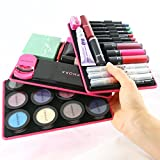 Cheap 3 BEAUTY BUTLER PORTABLE MAKEUP PALETTES (pink) No Depotting, works with mascara, eye shadow, blush & more!
