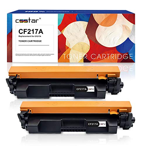 CSSTAR Compatible Toner Cartridge Replacement for HP 17A CF217A (with CHIP)  Work with Laserjet Pro MFP M102w M130nw M130fn M130fw M102a M130 Printer -