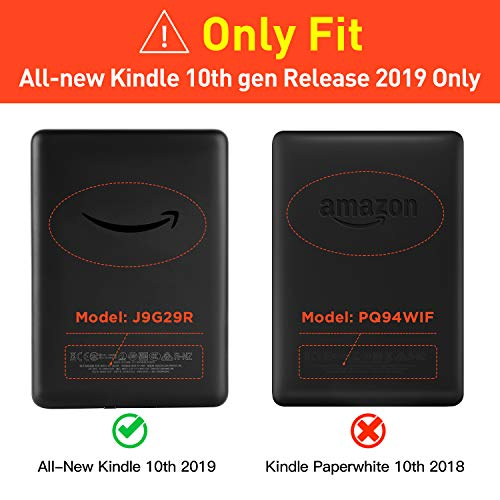 Ayotu Case for All-New Kindle 10th Gen 2019 Release - Durable Cover with Auto Wake/Sleep fits Amazon All-New Kindle 2019(will not fit Kindle Paperwhite or Kindle Oasis) Grey