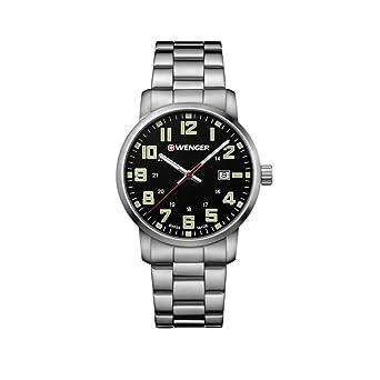 Wenger Reloj Analogico para Unisex de Cuarzo con Correa en Acero Inoxidable 01.1641.111: Amazon.es: Relojes