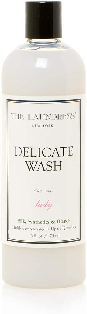 The Laundress - Delicate Wash, Lady Scented, Laundry Detergent for Delicates, Care for Fabric, Silk, Synthetics and Blends, Allergen-Free, 16 fl oz, 32 washes