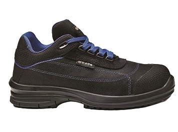 Sicherheitsschuhe schwarz blaue Arbeitsschuhe S1P SRC BASE Pulsar