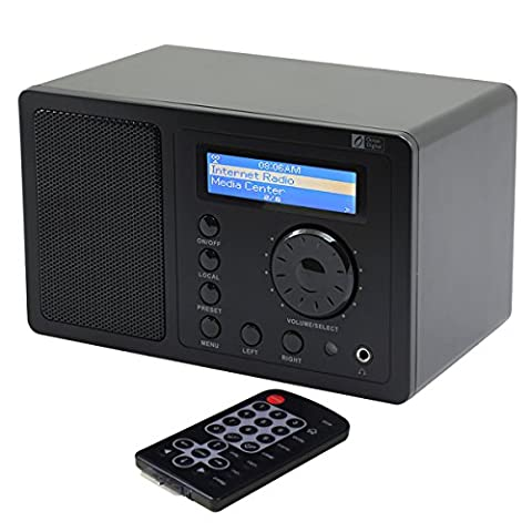 Ocean Digital Internet Radio WR220 WiFi Wlan Receiver Tuner Wireless Connection Music Media Player Desktop Alarm Clock- (Small Tuner)