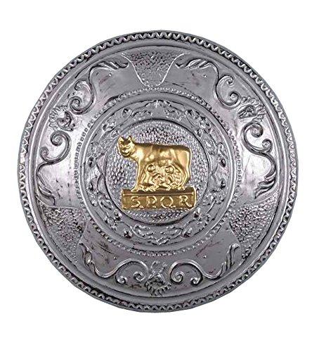 Greek Shield Costume (Forum Novelties Men's Novelty Round Shield, Silver, One Size)