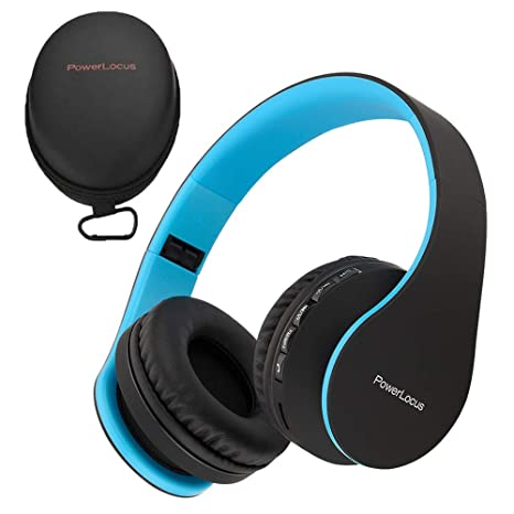 a2feefb24ea93b PowerLocus Cuffie Bluetooth Senza Fili - Over-Ear Cuffie Stereo Pieghevoli  Auricolari, Wireless Cuffie. Scorri sopra l'immagine per ingrandirla