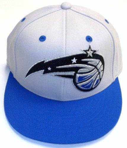 - NBA adidas Orlando Magic Silver-Royal Blue 210 Fitted Flat Brim Hat (Small/Medium)