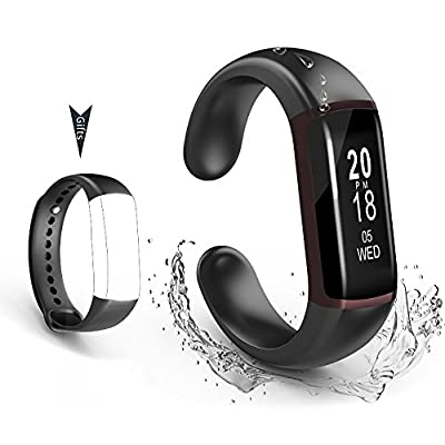 ZRHEART Fitness Acitvity Tracker Watch with Heart Rate Monitor Blood Pressure Sleep Monitor Pedometer Smart Fitness Band for iOS&iPhone Android …