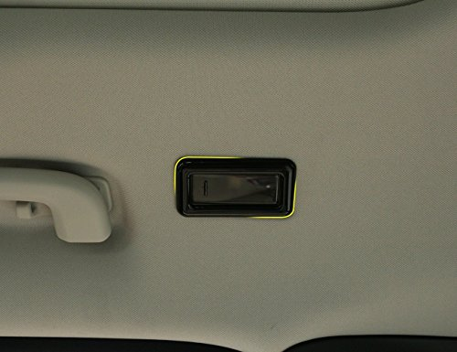 ABS Rear Reading Light Frame Cover Trim For Land Rover Discovery Sport 2015-2016 Jaguar F-PACE 2016 (black) by METYOUCAR