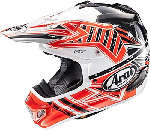 Arai Motocross Helmet - Arai VX-Pro 4 Shooting Star Red Motocross Helmet - Medium