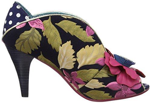 A Donna Blu Rita Navy Punta Aperta Tacco Scarpe by Pink col Licence Primrose Irregular Choice Poetic wRAqZRF