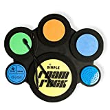Kids Electric Drum Set with Foam Drum Pads, 4 Drumsticks, Speakers & Sounds, Great for children & Toddlers by Dimple (Black)