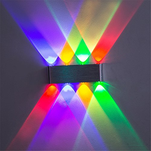 Sconce Light Billiard (Modern Creative 8 Heads 8W Wall Lamp Bedroom Bedside Aisle Corridor Staircase Aluminum LED Wall Light Bar Cafe Club Billiard Room Color Indoor Outdoor Sconce Mirror Lamp,Colored)