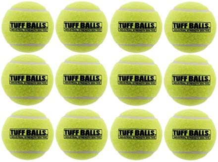 [해외]터프 볼 벌크 개 장난감 / PetSport USA 2.5 Tuff Balls for Medium Dogs [Pet Safe Non-Toxic Industrial Strength Tennis Balls for Exercise, Play Time & Dog Training](12 Pack)