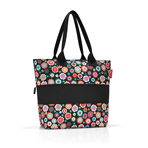 Diamonds Multicolour Tote cm liters Shopper e1 Mocha Brown Beach 18 Happy Canvas Reisenthel 50 Flowers amp; Bag wygR6qxX7x