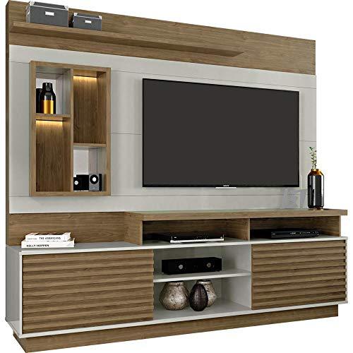 Estante Para Tv Grande Home Com 2 Portas e Led Eldorado Avelã/off White