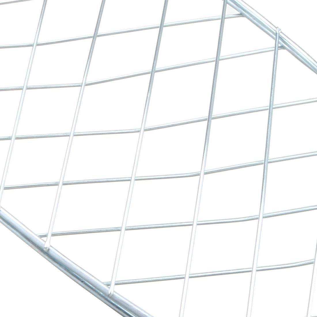 uxcell/® Stainless Steel Fish Grill Basket BBQ Smoking Charcoal Grilling Roast Basket with Hook