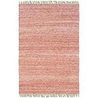 Linon Verginia Berber Brown Natural Fiber Rugs, 1.10 x 2.10, Red