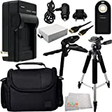 Essential Accessory Kit for Canon EOS Rebel T2i, T3i, T4i, T5i. Includes Replacement LP-E8 Battery + AC/DC Rapid Home & Travel Charger + Wireless Remote + Full Size Tripod + Pistol Grip/Table Top Tripod + Mini HDMI Cable + Carrying Case + MORE