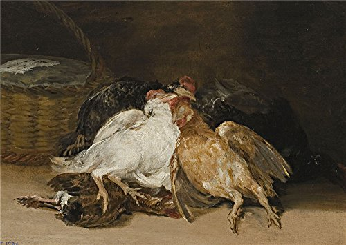 Eat Your Heart Out Origin ('Goya Y Lucientes Francisco De Dead Fowl 1808 12 ' Oil Painting, 12 X 17 Inch / 30 X 43 Cm ,printed On Perfect Effect Canvas ,this High Definition Art Decorative Canvas Prints Is Perfectly Suitalbe For Bedroom Decoration And Home Artwork And Gifts)