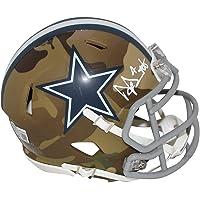 $279 » Dak Prescott Autographed/Signed Dallas Cowboys Camo Mini Helmet BAS