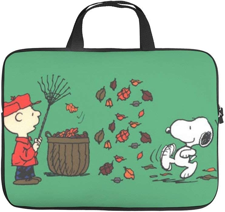 """Snoopy Welcome Fall 10-13"""" 13-17"""" Neoprene Laptop Sleeve Bag Carrying,Case Premium Laptop Briefcase Fits Up to 17 Inch Water-Repellent