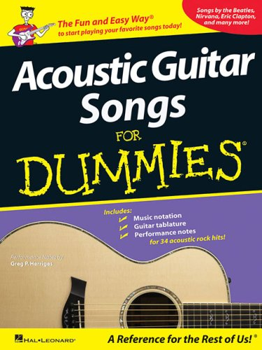 Acoustic Guitar Songs for Dummies (Rock Songs For Dummies)
